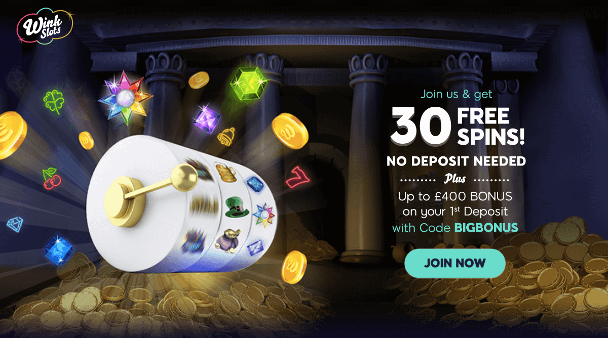Grab 30 Free Spins With No Deposit With Wink Slots