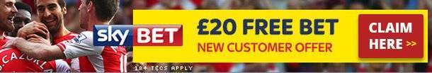 Claim £20 Free Bet at Skybet