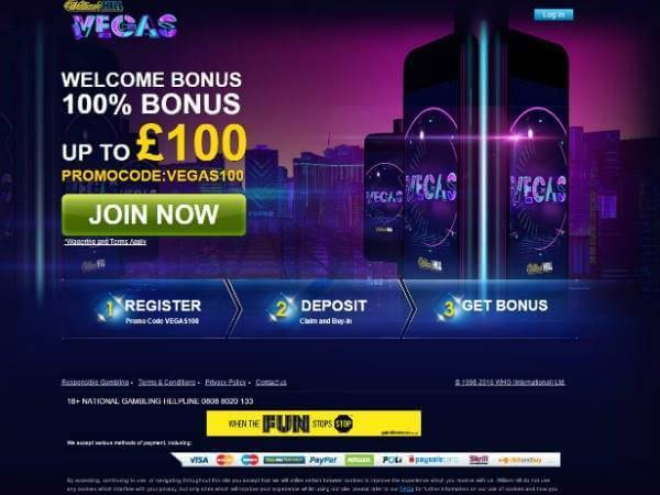 William Hill Vegas Bonus Offer