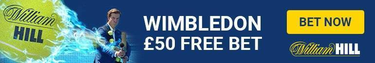 Claim £30 William Hill Free Bet for Wimbledon