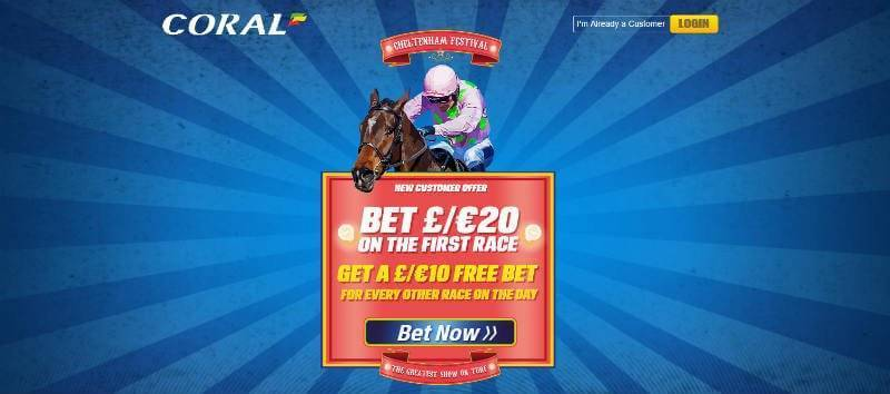 Coral Offer for First Race at Cheltenham