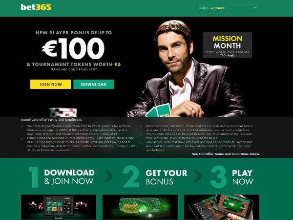 Bet365 Poker Sign Up Bonus