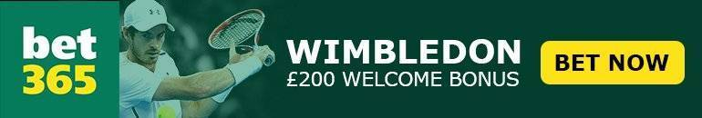 Claim £200 Bet365 free bet at Wimbledon 2017