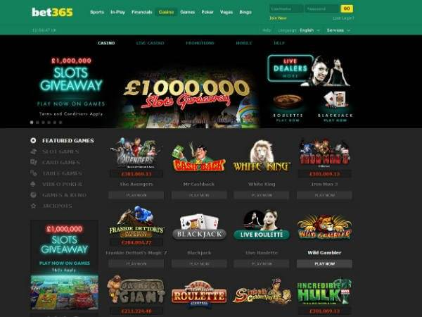 Bet365 Casion Games