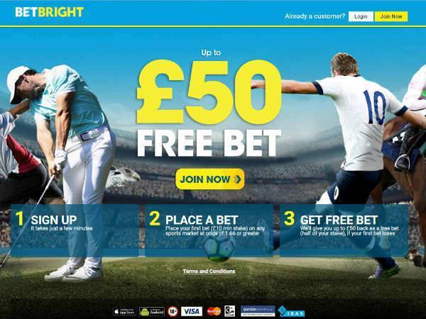 Betbright £50 Free Bet