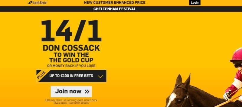Enhanced Offer from Betfair for Don Cossack