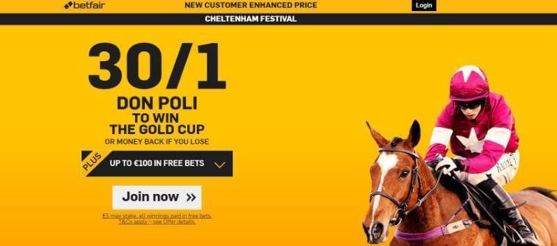 Cheltenham 2016 Gold Cup with Betfair