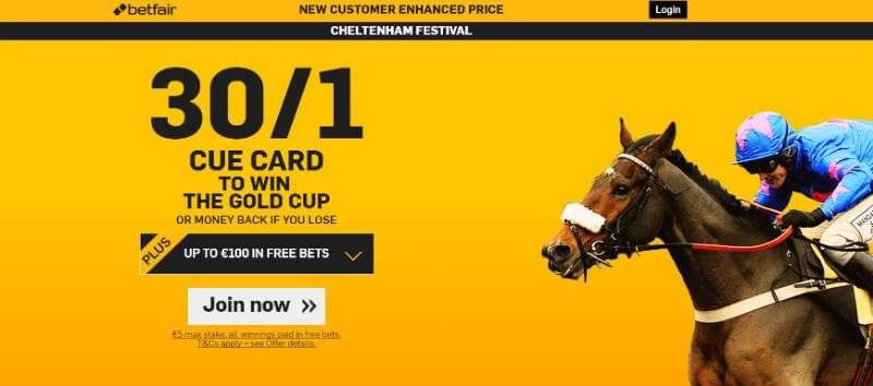 Cheltenham 2016 Gold Cup Betting with Betfair