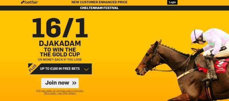 Betfair Enhanced Odds Cheltenham 2016