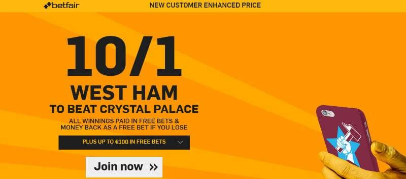 Premier League Enhanced Odds with Betfair