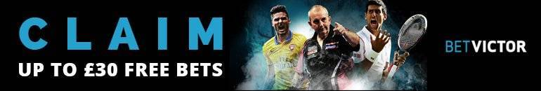 Betvictor up to £30 Free Bet
