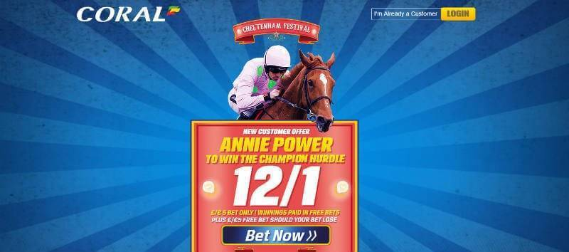 Enhanced Offer from Coral on Annie Power