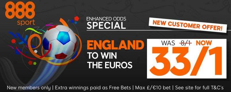 888sport Euro 2016 Enhanced Odds