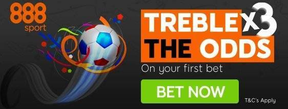 Treble your Odds with 888sport for Euros 2016