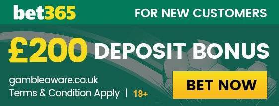 Claim up to £200 Bonus with Bet365