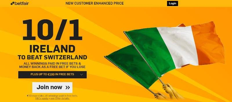 Betfair enhanced odds International Friendly