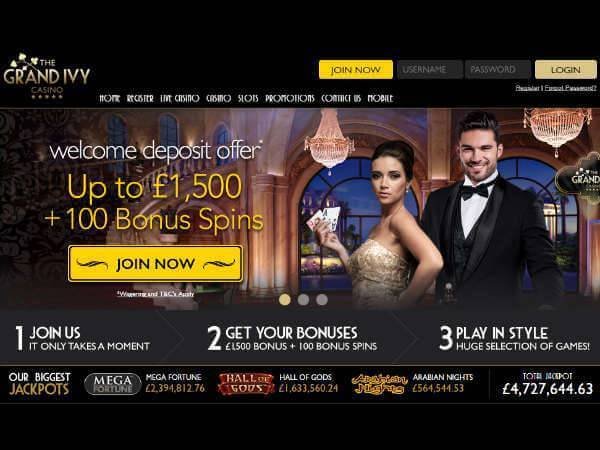 New Customer Offer Grand Ivy Casino