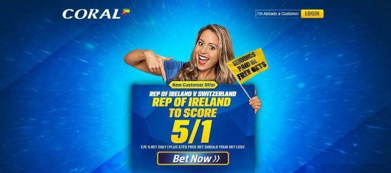 Enhanced Odds Offer from Coral
