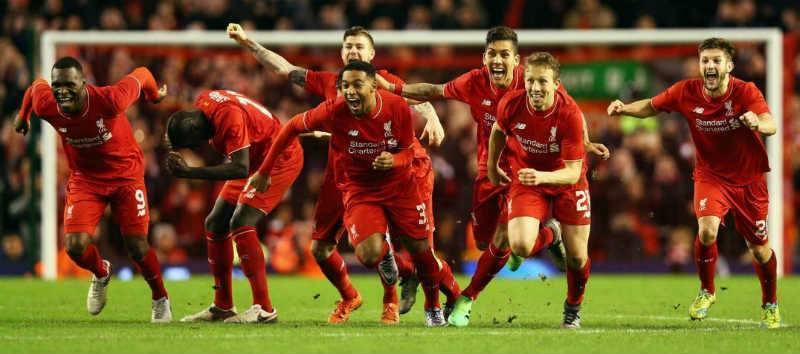 Liverpool 5/4 with Bet365