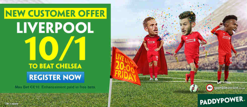 10/1 Liverpool to win