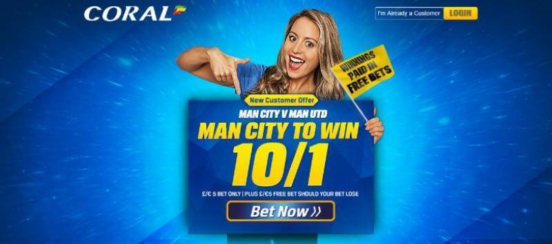 Coral Enhanced Odds for Manchester Derby