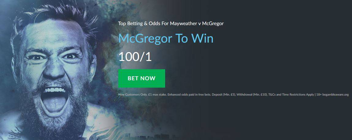 Mayweather vs. McGregor Betting Offer from BetVictor