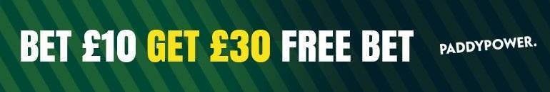 Paddypower Bet £10 Get £30