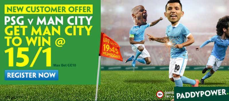 PSG v Man City Betting Offer