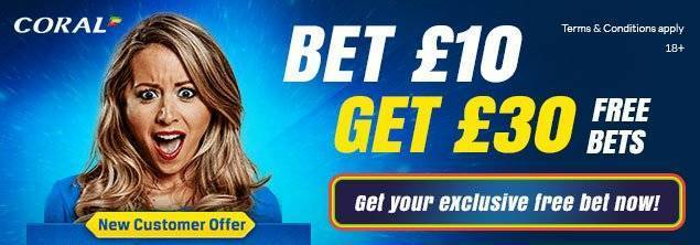 Coral Exclusive Free Bet Offer