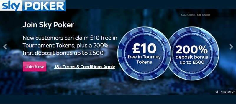 Free Tokens with Sky Poker
