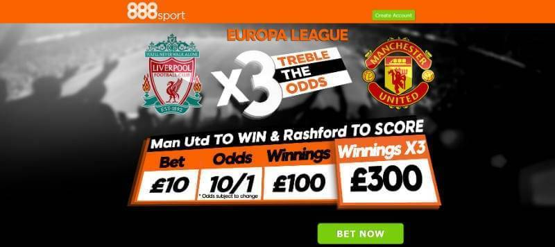 Treble with 888 on Man Utd