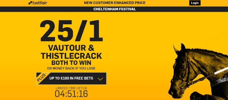 Cheltenham 2016 Betfair Enhanced Offer