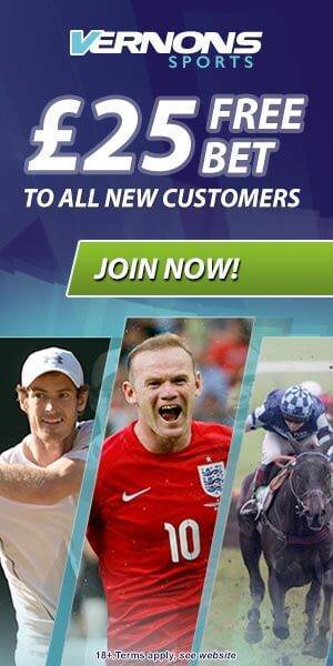 Vernons Free Bet Offer