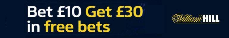 Claim £30 William Hill Free Bet